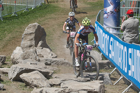 Serena Calvetti at UCI World Cup XCO / XCE / DHI 7 - Méribel (2014)