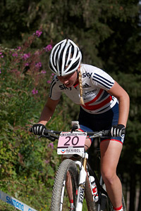 Alice Barnes at UCI World Cup XCO / XCE / DHI 7 - Méribel (2014)
