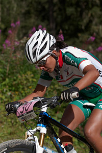 Andrea Fuentes at UCI World Cup XCO / XCE / DHI 7 - Méribel (2014)