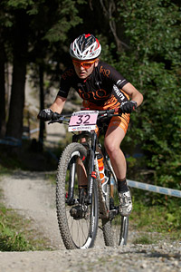 Emily Parkes at UCI World Cup XCO / XCE / DHI 7 - Méribel (2014)
