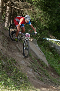 Felicia Ferner at UCI World Cup XCO / XCE / DHI 7 - Méribel (2014)
