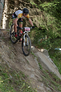 Holly Harris at UCI World Cup XCO / XCE / DHI 7 - Méribel (2014)