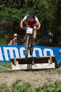 Kate Courtney at UCI World Cup XCO / XCE / DHI 7 - Méribel (2014)