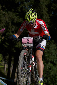 Linda Indergand at UCI World Cup XCO / XCE / DHI 7 - Méribel (2014)