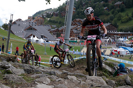 Lisa Mitterbauer at UCI World Cup XCO / XCE / DHI 7 - Méribel (2014)