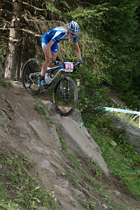 Maghalie Rochette at UCI World Cup XCO / XCE / DHI 7 - Méribel (2014)