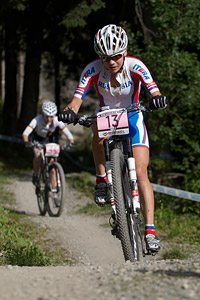 Nadezhda Antonova at UCI World Cup XCO / XCE / DHI 7 - Méribel (2014)