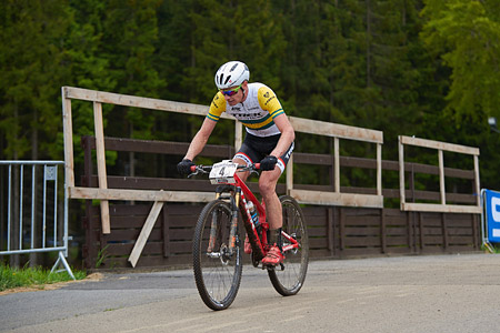Daniel McConnell at UCI World Cup XCO 1 Nove Mesto na Morave (2015)