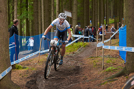 Fabian Giger at UCI World Cup XCO 1 Nove Mesto na Morave (2015)