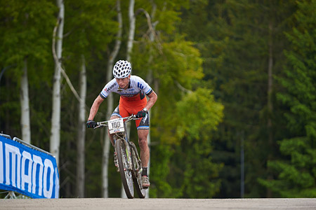 Filip Eberl at UCI World Cup XCO 1 Nove Mesto na Morave (2015)