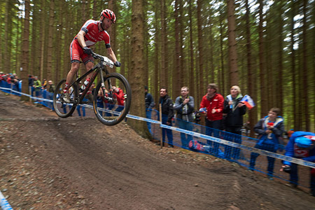 Florian Vogel at UCI World Cup XCO 1 Nove Mesto na Morave (2015)
