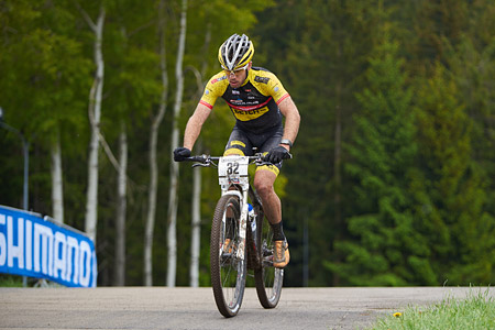 Hans Becking at UCI World Cup XCO 1 Nove Mesto na Morave (2015)