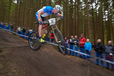 Jan Nesvadba at UCI World Cup XCO 1 Nove Mesto na Morave (2015)