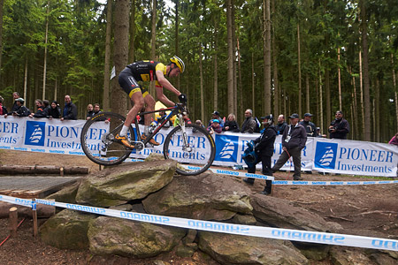 Jiri Novak at UCI World Cup XCO 1 Nove Mesto na Morave (2015)