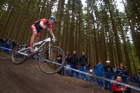 Kerry Werner at UCI World Cup XCO 1 Nove Mesto na Morave (2015)