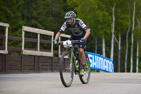 Manuel Fumic at UCI World Cup XCO 1 Nove Mesto na Morave (2015)