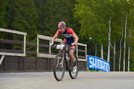 Martin Gluth at UCI World Cup XCO 1 Nove Mesto na Morave (2015)