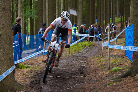 Sergio Mantecon Gutierrez at UCI World Cup XCO 1 Nove Mesto na Morave (2015)