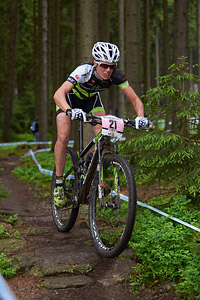 Alice Pirard at UCI World Cup XCO 1 Nove Mesto na Morave (2015)