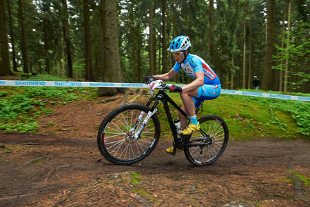Aurélia Perry at UCI World Cup XCO 1 Nove Mesto na Morave (2015)