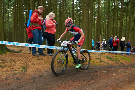 Cherie Redecker at UCI World Cup XCO 1 Nove Mesto na Morave (2015)