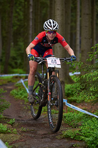 Chloe Woodruff at UCI World Cup XCO 1 Nove Mesto na Morave (2015)