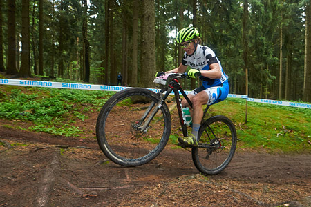 Cindy Montambault at UCI World Cup XCO 1 Nove Mesto na Morave (2015)
