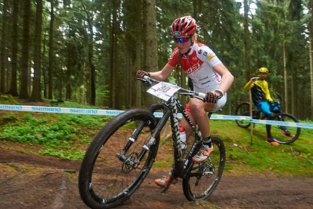 Helen Grobert at UCI World Cup XCO 1 Nove Mesto na Morave (2015)