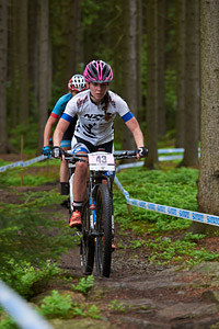 Kate Fluker at UCI World Cup XCO 1 Nove Mesto na Morave (2015)
