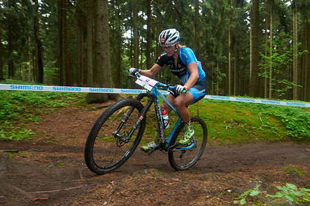 Kathrin Stirnemann at UCI World Cup XCO 1 Nove Mesto na Morave (2015)