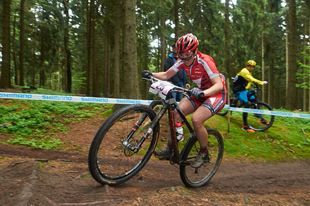 Linda Indergand at UCI World Cup XCO 1 Nove Mesto na Morave (2015)