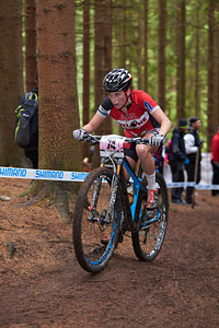 Rebecca Beaumont at UCI World Cup XCO 1 Nove Mesto na Morave (2015)