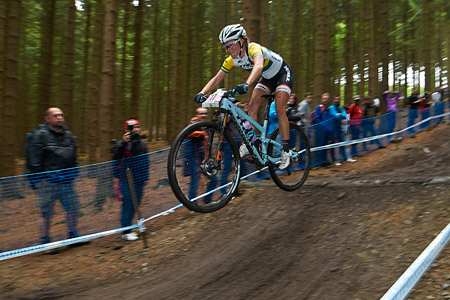 Rebecca McConnell at UCI World Cup XCO 1 Nove Mesto na Morave (2015)