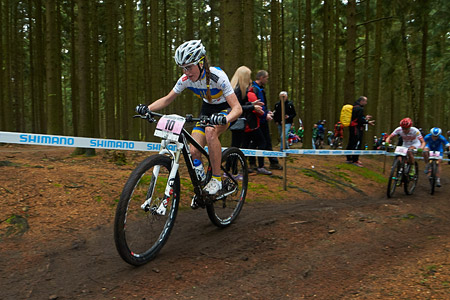 Yana Belomoyna at UCI World Cup XCO 1 Nove Mesto na Morave (2015)